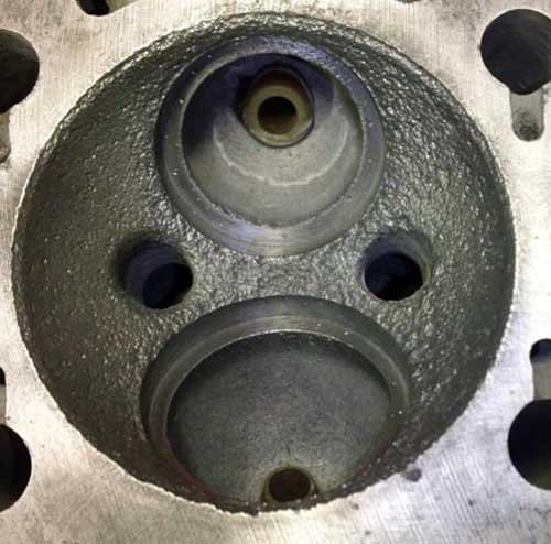 Damaged Vintage Ferrari Maserati Combustion Chamber