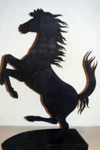 6 foot steel horse
