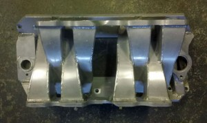 For Sale Big Block Chevy Weber Cross Ram Custom Sheet Metal Intake Manifold.